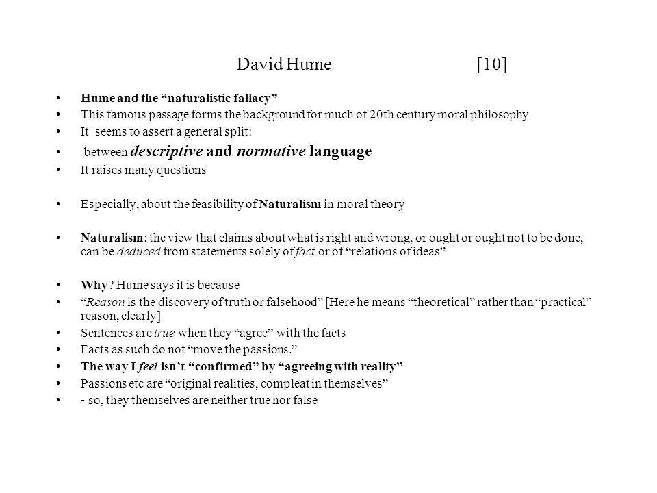 David Hume [10] Hume and the naturalistic fallacy